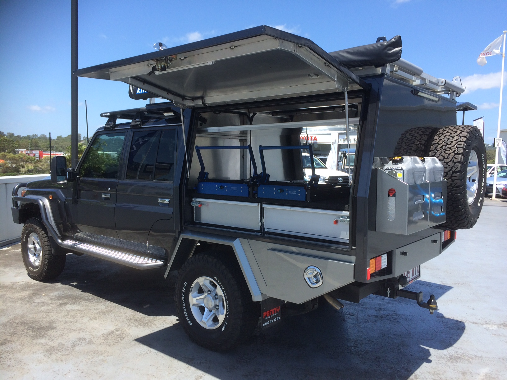Here are photos of some of the custom aluminium canopies we have done for Toyota Landcruiser owners. & Photos - Canopy - Toyota Landcruiser - Penny Industries